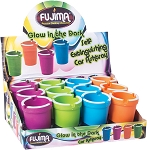 Fujima Assorted Color Glow In The Dark Self Extinguishing Ashtray 12ct