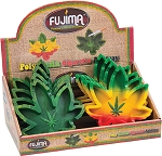 Fujima Leaf Shape Poly Resin Ashtray 8ct