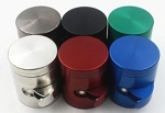 Large 63MM Flat Top Grinder with Side Dispenser Assorted Colors