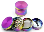 Large 63MM Rainbow Flat Top 4 Part Grinder