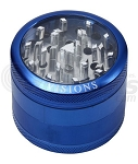 Visions 4 Part Clear Top Grinder Large